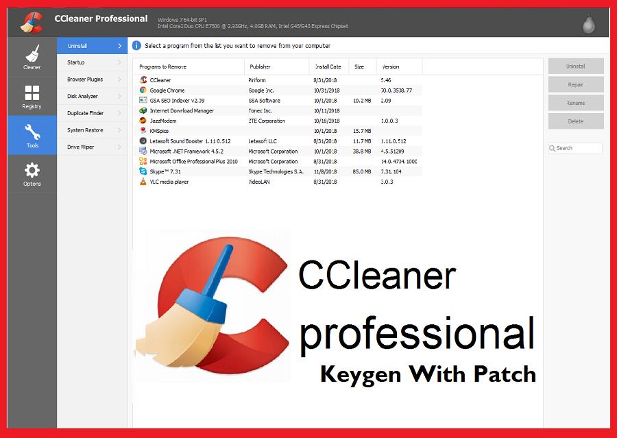 CCleaner Professional Crack Key Latest Version 2020